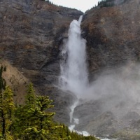 Takakkaw Falls, Laughing Falls, and Angel's Staircase Falls -- Yoho National Park