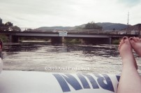 Floating down the channel in Penticton