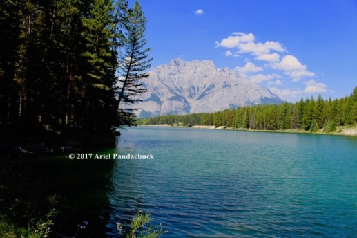 View of Cascade mountain at the lake